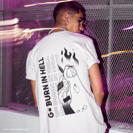 """T-Shirt Homme """"BURN IN HELL"""""""