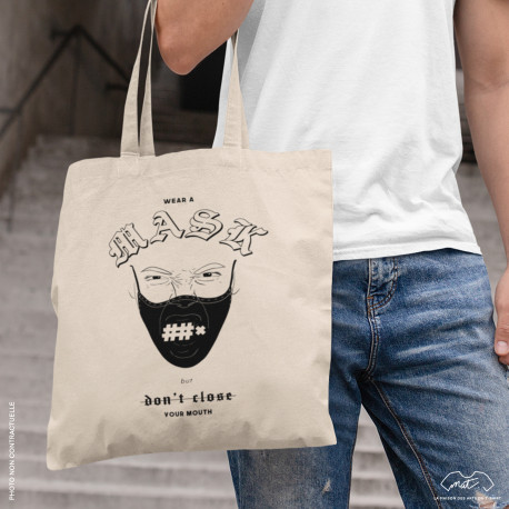 "Tote bag ""WEAR A MASK..."""