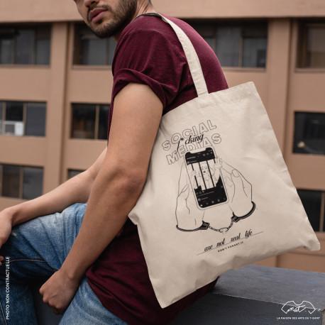 """Tote bag """"SOCIAL MEDIA"""""""