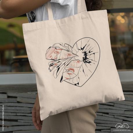 """Tote bag """"I CHOOSE TO BREAK MY HEART"""""""