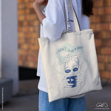 """Tote bag """"I DON'T GIVE A SHIT"""""""