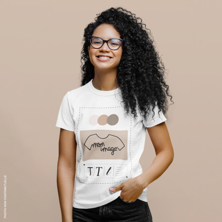 T-Shirt femme personnalisé - blanc