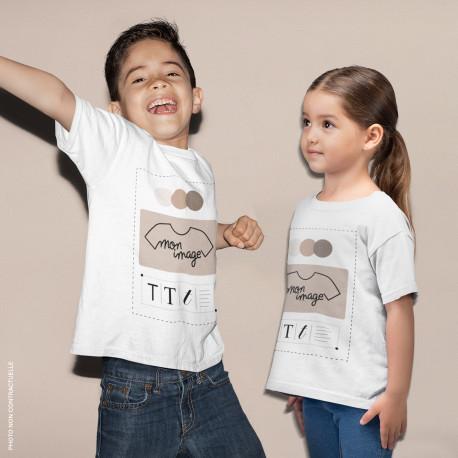T-Shirt enfant personnalisé - blanc