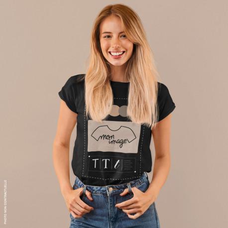 T-Shirt femme personnalisé - noir