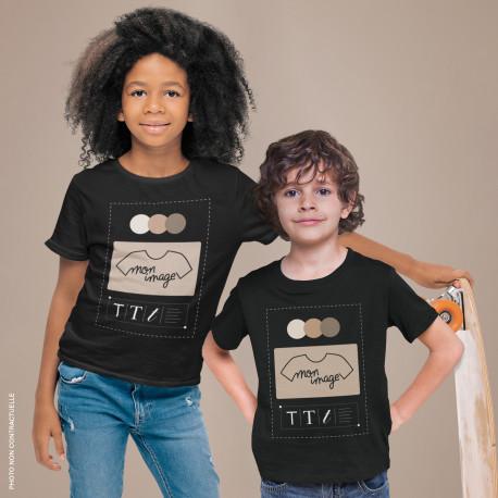 T-Shirt enfant personnalisé - noir