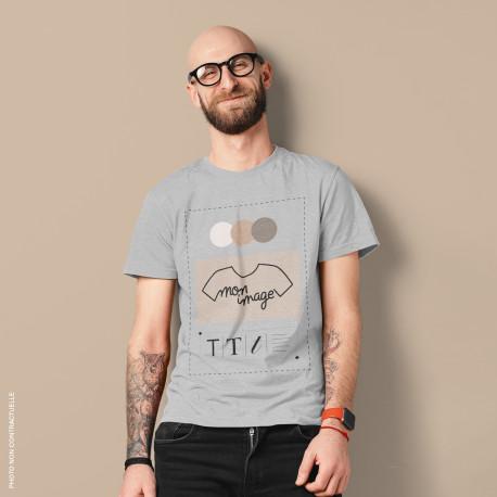 T-Shirt Homme personnalisé - gris
