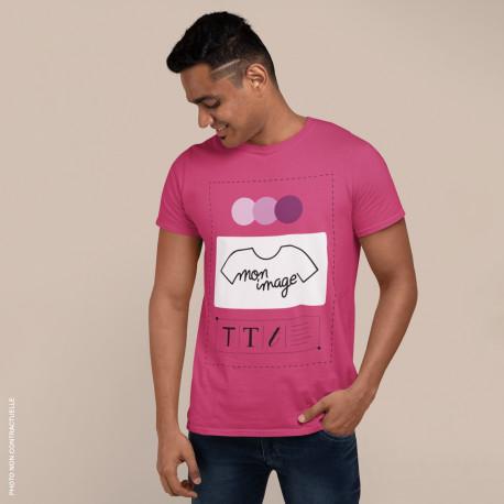T-Shirt Homme personnalisé - rose