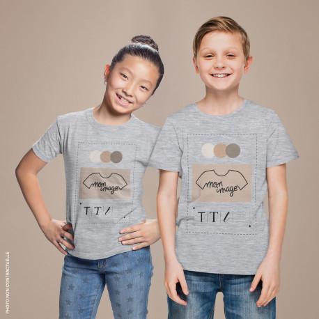T-Shirt enfant personnalisé - gris chiné